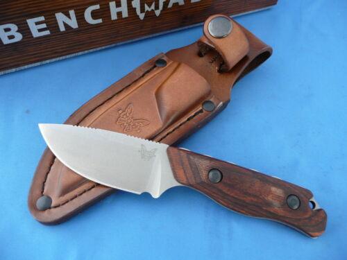 Benchmade 15017 Hidden Canyon Hunter Knife S30V Wood Handle Leather Sheath