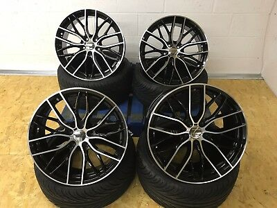 "19"" BMW F10 ALLOYS & TYRES WITH BLACK POLISH WIDER REARS DISH MESH FIT 3 SERIES"