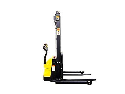 Hoc Esc15m33 Wide Leg Electric Pallet Stacker 1500 Kg 3307 Lbs 130 Capacity