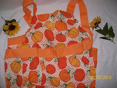 Autumn Fall Ladies Kitchen Cooking Apron - Pumpkins Design