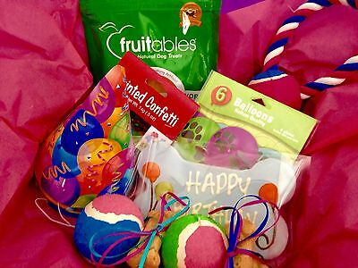 Puppy Party BIRTHDAY Kit - Doggie GIFT BASKETS DOG Treats Treat Toy Toys BASKET