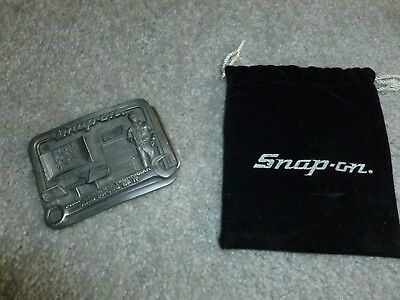 VINTAGE SNAP ON TOOLS AUTOMOTIVE BELT BUCKLE PEWTER COLLECTIBLE ()