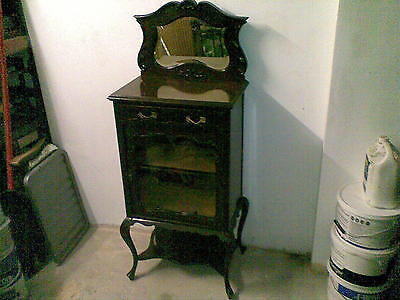antique victorian trapnell and gane glass display,ideal shabby chic project
