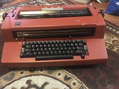 Red Ibm Correcting Selectric 3 Electric Typewriter Iii Vintage New Ribbion Neede