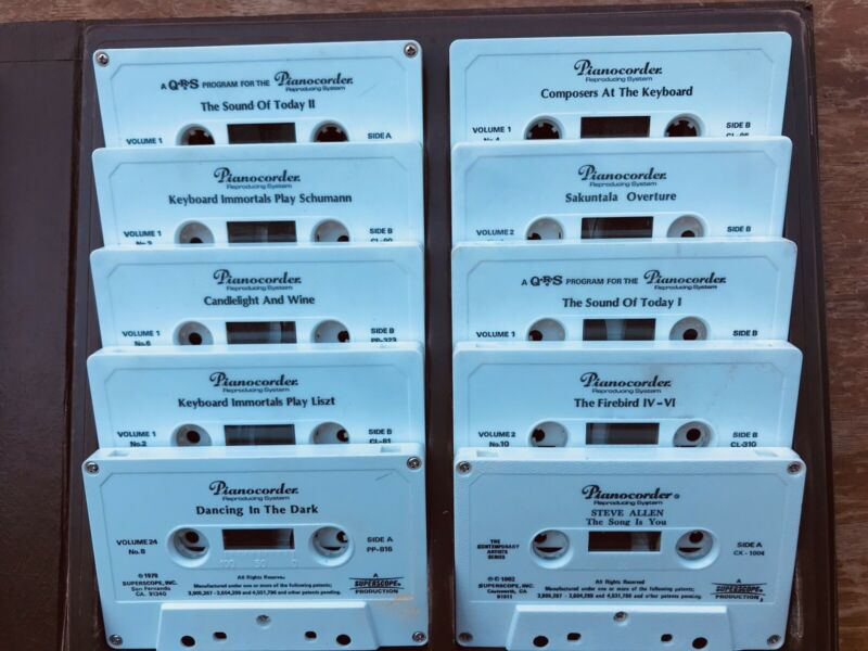 MARANTZ Pianocorder Complete Cassette Set GALAXY Vol. 1 Tapes