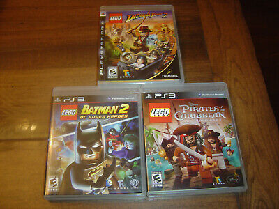 LEGO PS3 Game Lot Indiana Jones 2 Batman 2 Pirates PlayStation 3