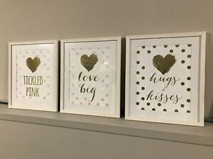 Gold Foil Heart Prints