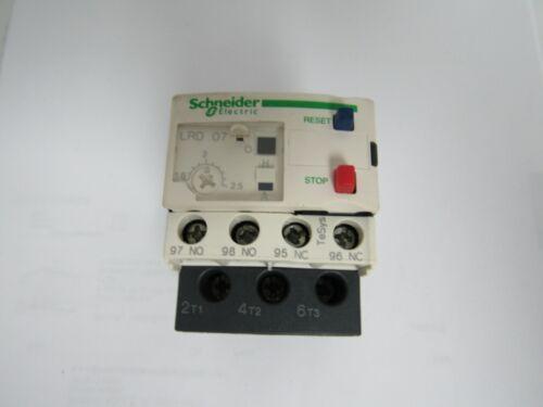 SCHNEIDER ELECTRIC LRD 07 OVERLOAD RELAY 1.6-2.5A 600V CLASS 10-A