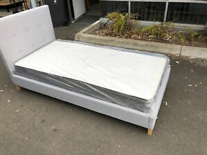Fabric bed and mattress single$200KS$250double$300queen$350king$420