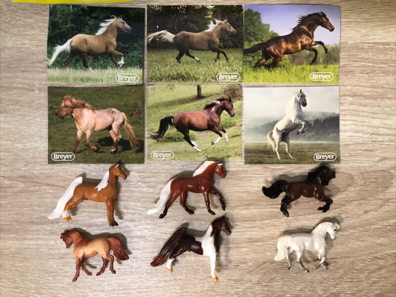 Breyer Mini Whinnies Surprise Series 3 Lot of 6 Horses New Opened Blind Bags