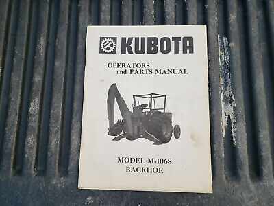 Oem Original Kubota M-1068 Backhoe Owner Operator Parts Manual Catalog