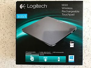 Logitech t650 Wireless Rechargeable Touchpad Orange Orange Area Preview