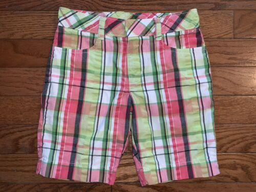 Gymboree Multi-Color Plaid Bermuda Shorts Girls Size 5 - $1.00