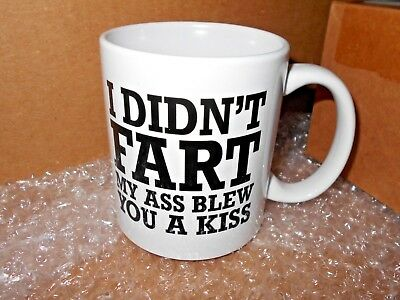 Funny Coffee Mug Cup Best Gag Gift Idea I Didn't Fart Office Prank Friend