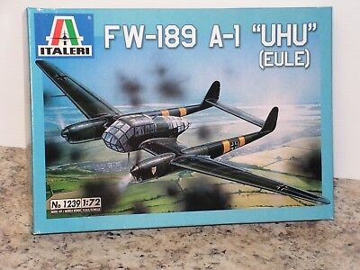 ITALERI 1239 1/72 GERMAN FW-189 A-1 UHU OPEN