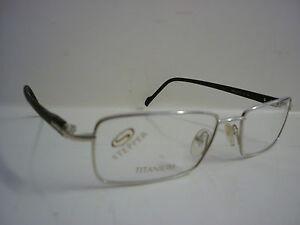 Stepper SI-4503 Titanium Frames Glasses Eyeglass Spectacles Silver/Black G-064