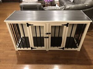 furniture style dog crate.