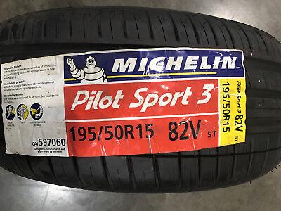 4 New 195 50 15 Michelin Pilot Sport 3 Tires
