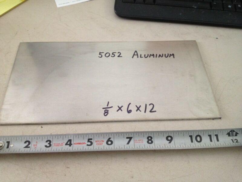 "Aluminum Plate Bar 1/8"" x 6"" x 12""   , project stock"