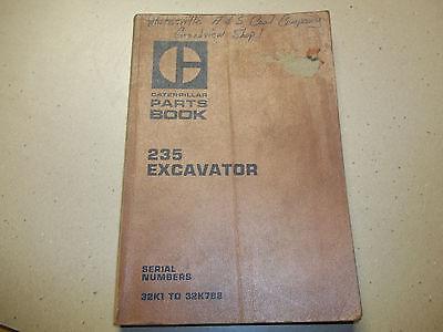 Caterpillar 235 Excavator Parts Book Serial Nos 32k1 To 32k788 Old Manual