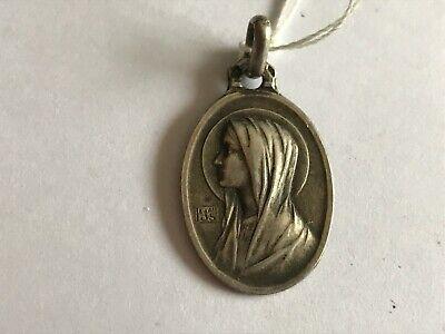 Pendant Medal Religious Virgin Marie Solid Silver - REF52020