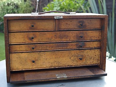 Vintage Emir Toolmakers Cabinet Chest Box also for Craft Hobby Artists - English