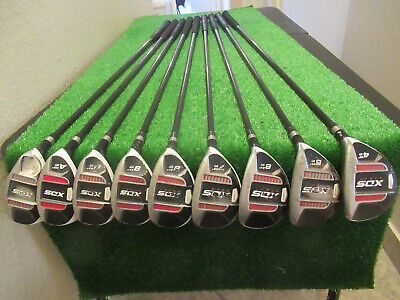 ACER REACT ALL HYBRID IRON SET 4-PW AW SW GOLF CLUBS ENIOR GRAPHITE SHAFTS RH