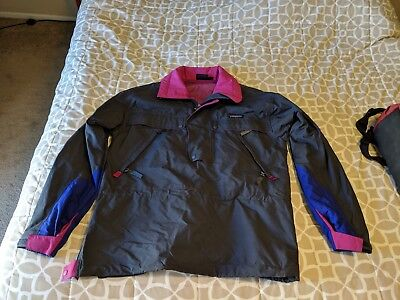 Patagonia Vintage Small sm s Windbreaker Jacket Pullover Snap side zip
