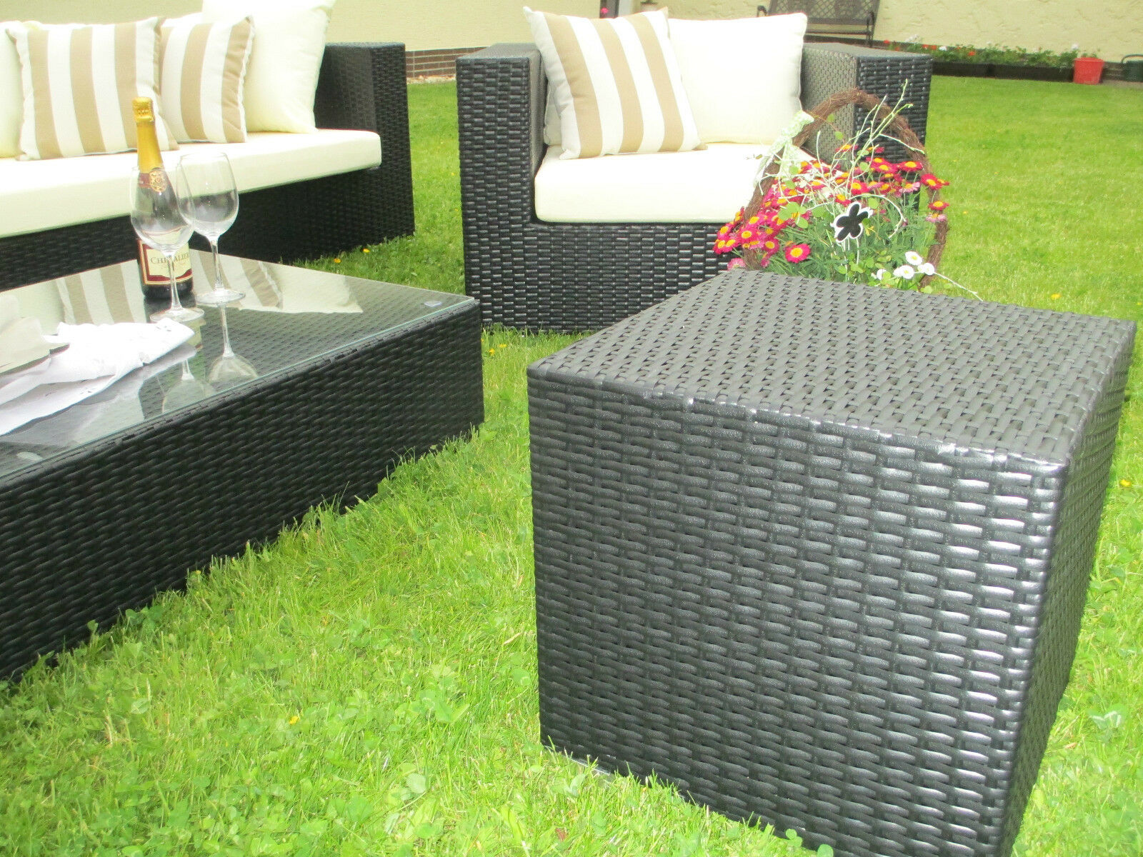 exclusive garten lounge xxl sitzgruppe gartenm bel terrassenm bel poly rattan eur 999 00. Black Bedroom Furniture Sets. Home Design Ideas