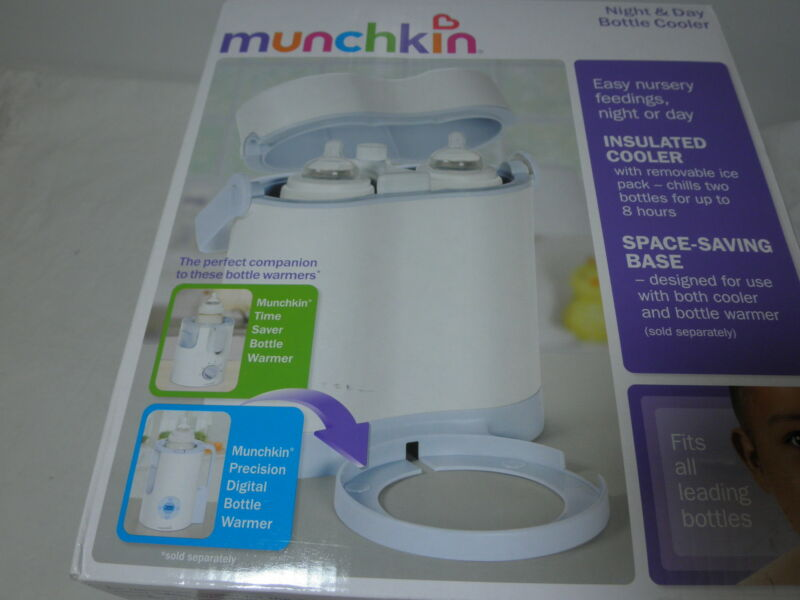 New Munchkin Night & Day Bottle Insulatated Cooler ~ Hold Two Bottles NIP