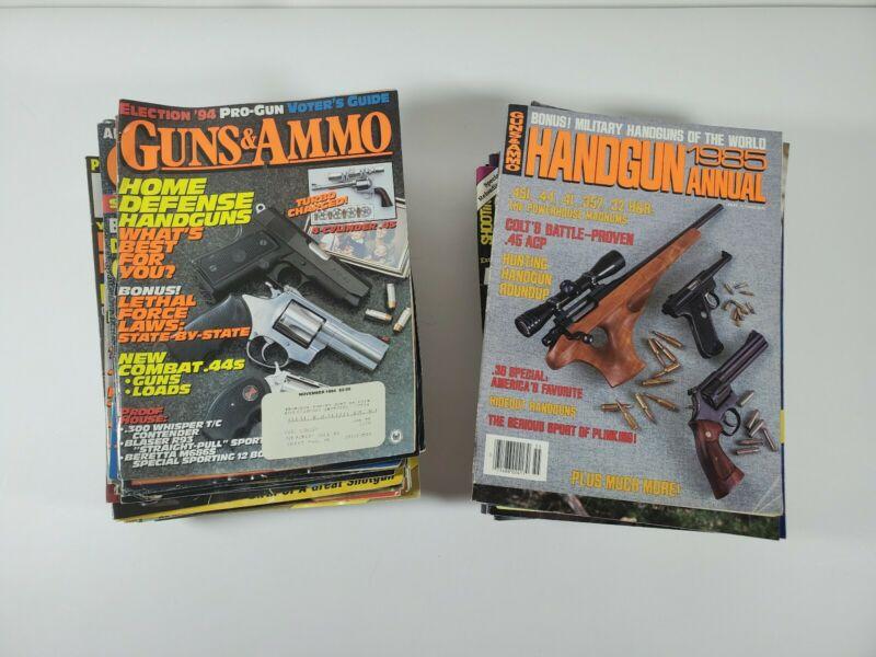 Lot of 45 Gun Magazines Handgun Riflles Shotguns Pistols Firearms Hunting 1990s