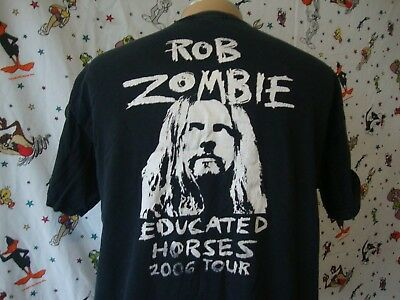Rob Zombie Educated Horses Stage Crew Heavy Metal 2006 Tour T shirt XL