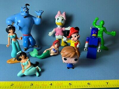 1990s + Disney Lot 9 PVC Bendy Plastic Figures Mickey Mouse Daisy 90s Toys