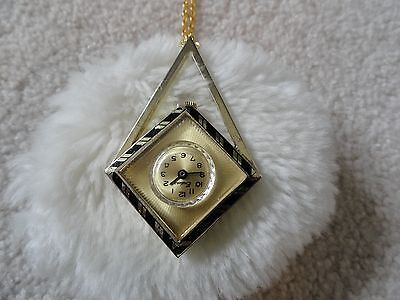 Swiss Made Endura Vintage Necklace Pendant Wind Up Watch