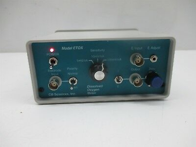 Cb Sciences Dissolved Oxygen Meter Model Etox Bio-potentiostat Laboratory Lab