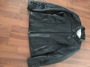 Ladies Angora leather jacket