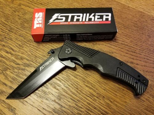 TRS Striker Tactical Tanto Tip Knife Speed ~ Strength ~ Reliability ~ Ships FREE