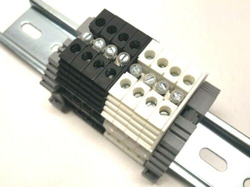 Power Distribution DIN Rail Terminal Blocks Kit KN-T10 10 AWG 30A 600V UL LISTED