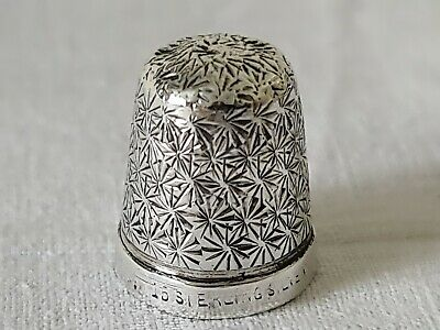 Victorian Ornate Sterling Silver Thimble 15