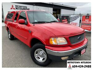 2000 Ford F-150 Standard; LOW KMS, Canopy, 1 owner!