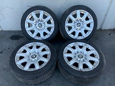 BENTLEY CONTINENTAL GT (04-10) WHEELS RIMS RIM TIRE SET OEM 19 X 9 3 PIECE WHEEL