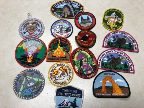 Lot of Utah National Parks Council Activity Patches