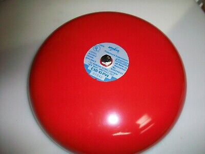 Vuntage Red 10 Amseco Fire Alarm Bell  24 V. Dc.