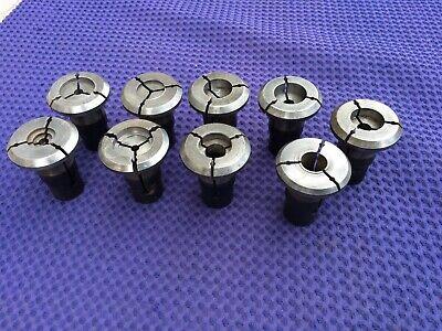 Nine Used Hardinge 5ds E2 Machinable Collets Lathe Milling Machine Tool Lot 1