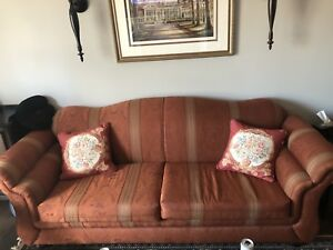 Sofa & 2 Wing Back Chairs