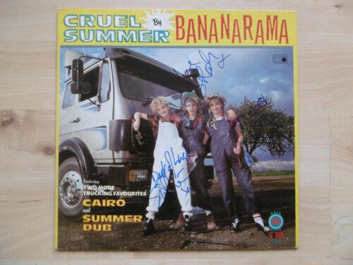 """Bananarama Autogramme signed Maxi-Cover """"Cruel Summer"""" Vinyl 12"""""""