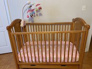 Solid wood baby crib. Great condition.