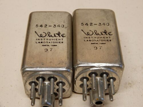White Instruments Laboratories 542-340 Filters Quantity 2 Octal Base