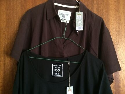 Women's cotton t-shirts brand new with tags black and brown $5