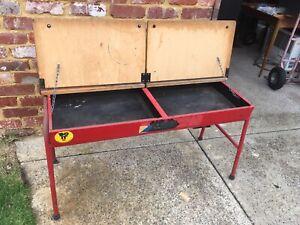 Old School desk 2 person desk Steel frame